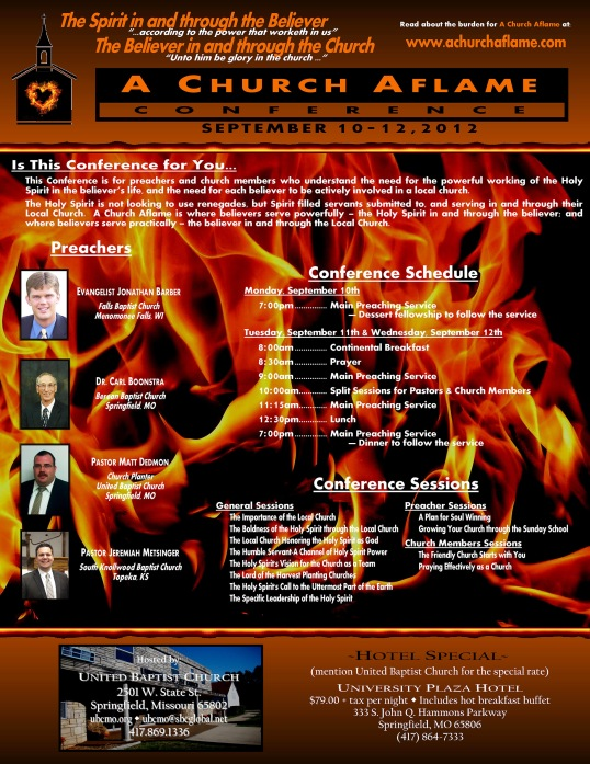 A Church Aflame Conference Flyer